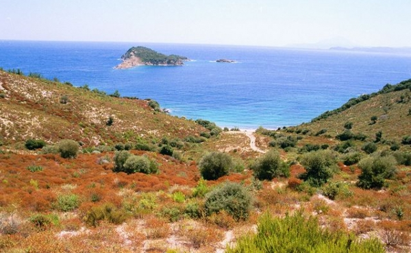 Seafront land plot for sale in Halkidiki peninsula