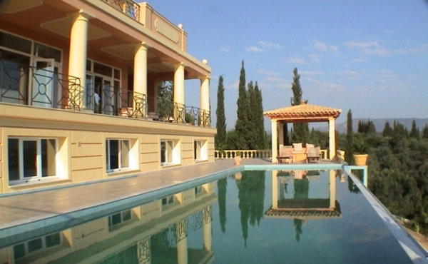 Majestic luxury villa in Neoclassical style in Corfu with amazing views