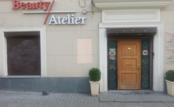 Premises for rent for beauty salon or showroom in Stalin building near Barrikadnaya